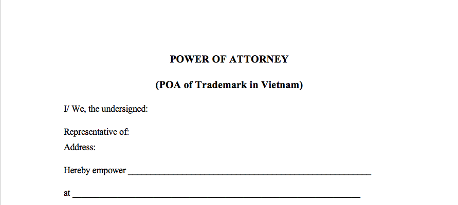 power of attorney form thailand  Questions of filing trademark in Vietnam: POA, Trademark ...
